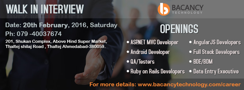Bacancy Technology is looking for skillful