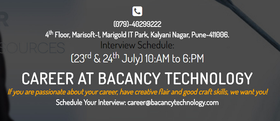 We Are Hiring IT Professionals For Our Pune Office