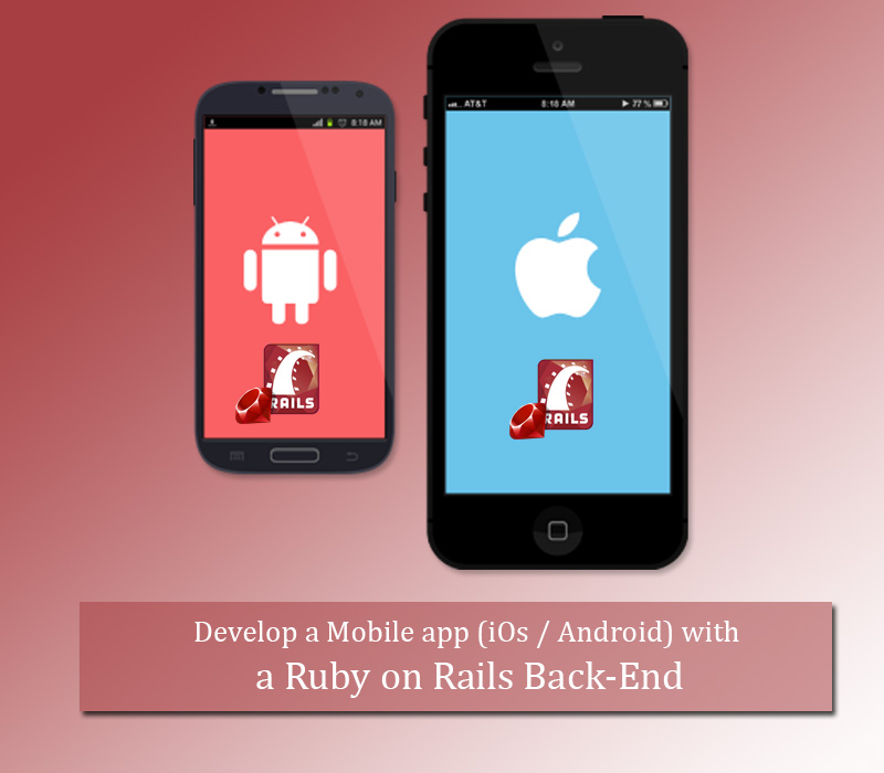 Develop a Mobile app (iOs Android) with a Ruby on Rails Back-End