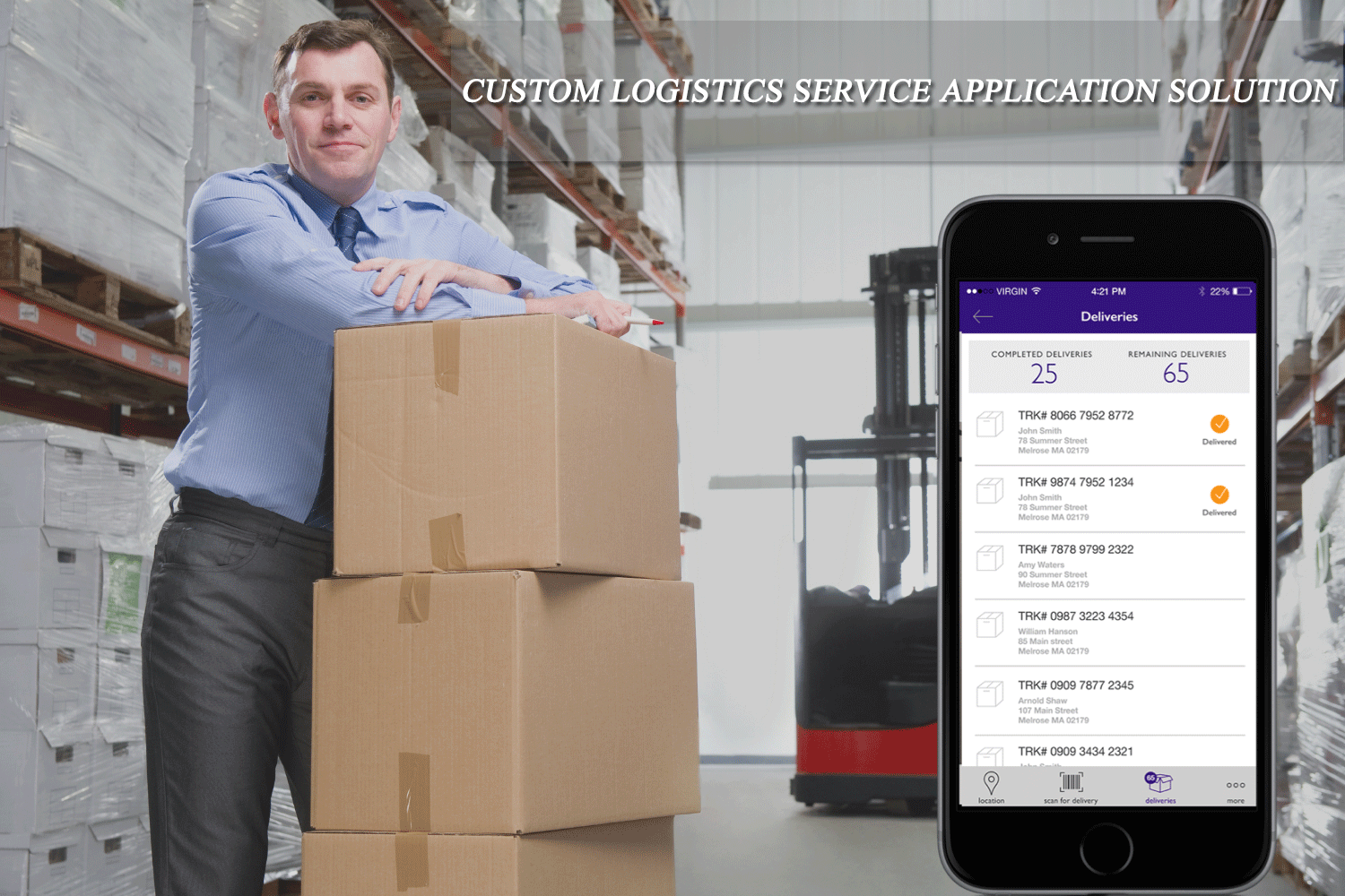 Mobile App Solution For Mr. Marc's Logistics business Requirement