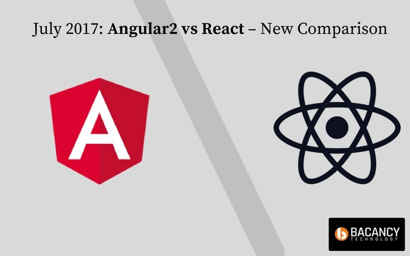 July 2017 Angular2 vs React – New Comparison Infographic