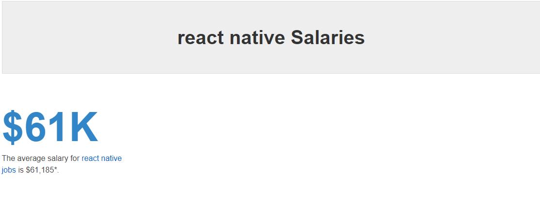 React Native Job Salaries