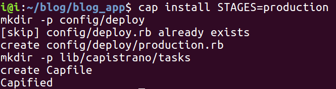 Install bundle and generate Capistrano config files