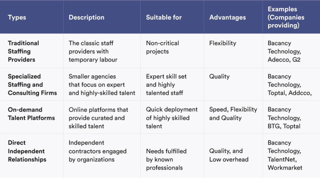 Types of IT Staff Augmentation