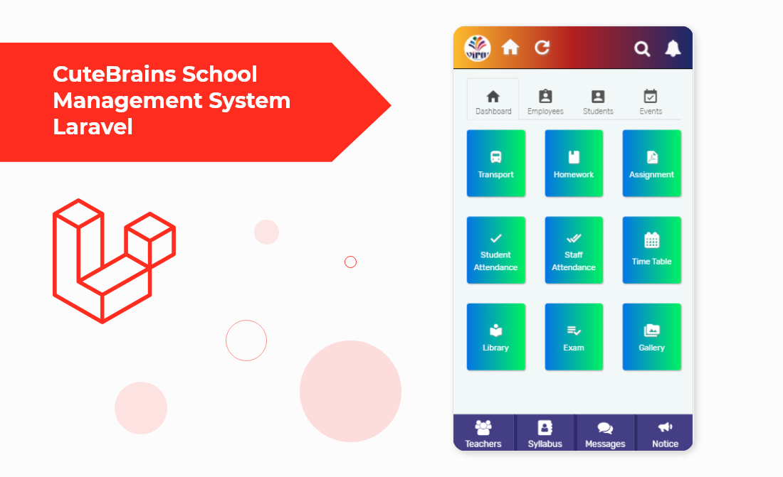 CuteBrains School Management System Laravel