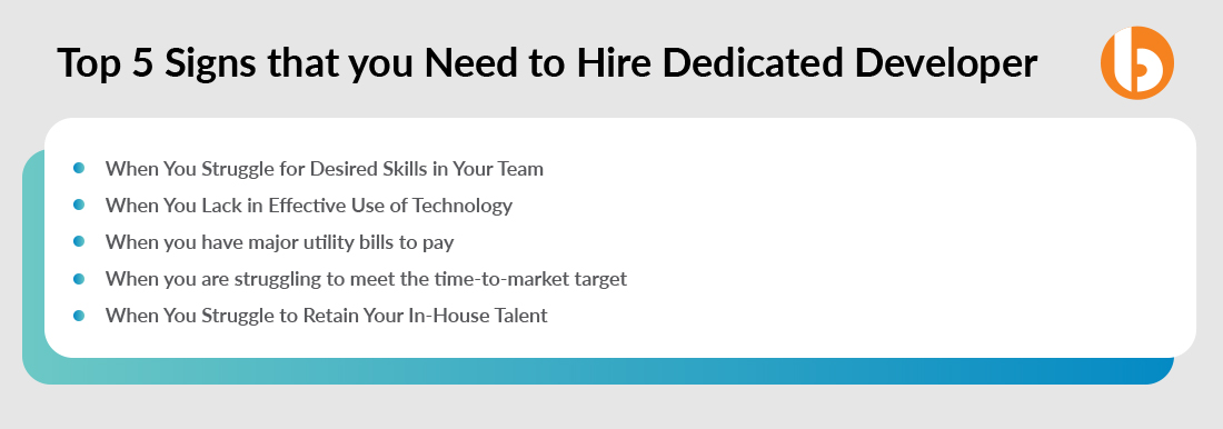 Top 5 Signs that you Need to Hire Dedicated Developers