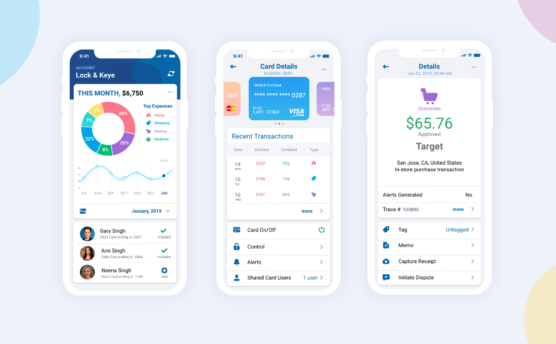 Credit Card Mobile Dashboard