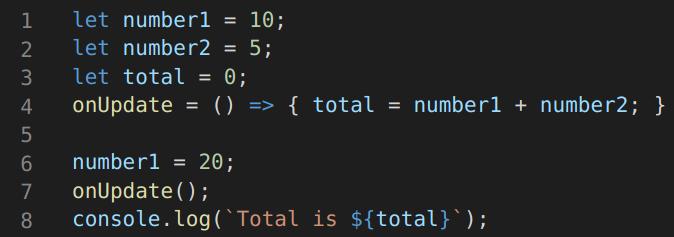 logic of calculating total