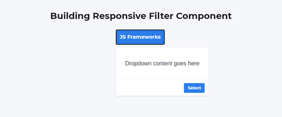 Building responsive filter component