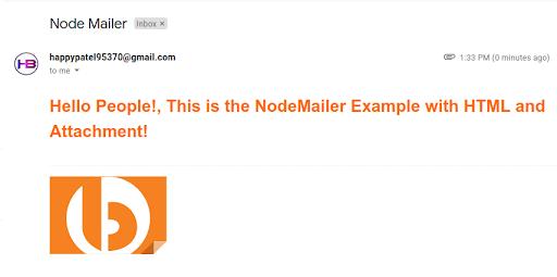 HTML Email through NodeMailer