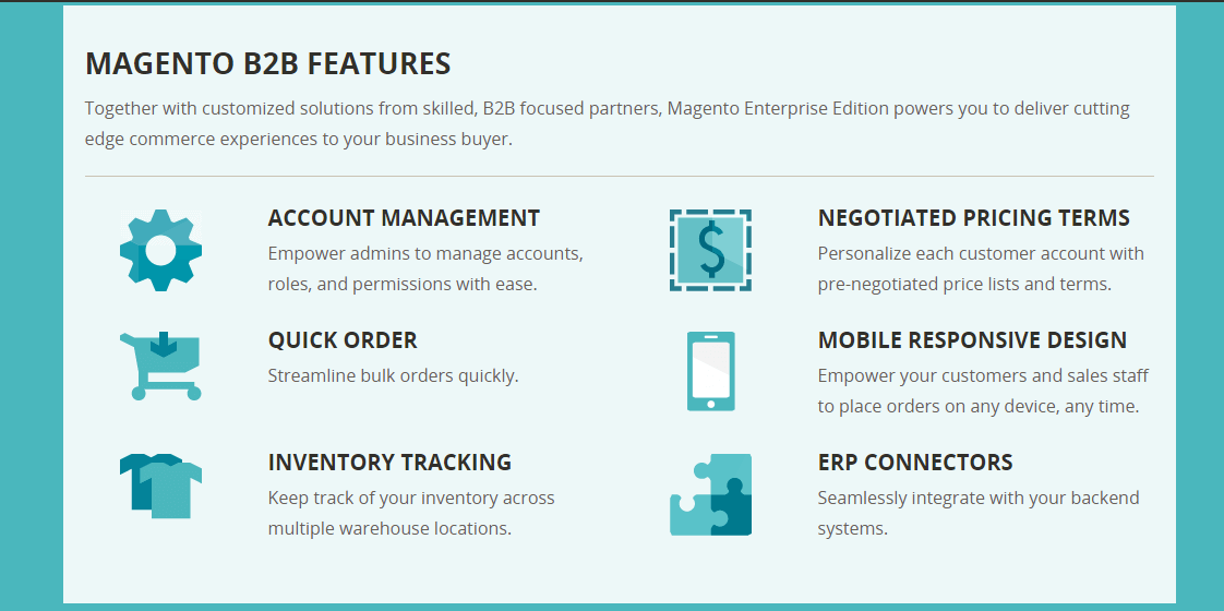 Magento b2b features you will enjoy